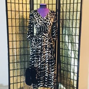 JAASE Animal Print Maxi Dress